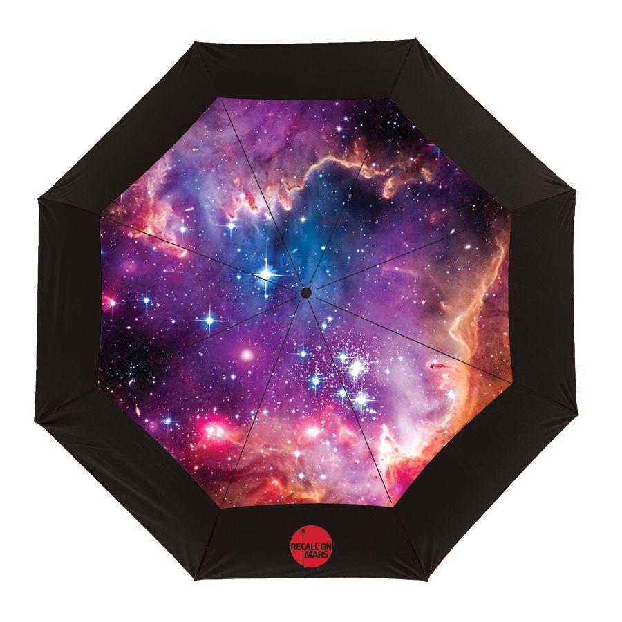 Vented Themed Galaxy Umbrella